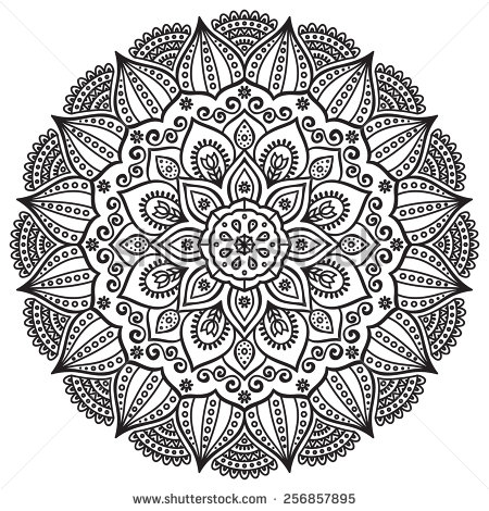 Mandala Only Coloring Pages
