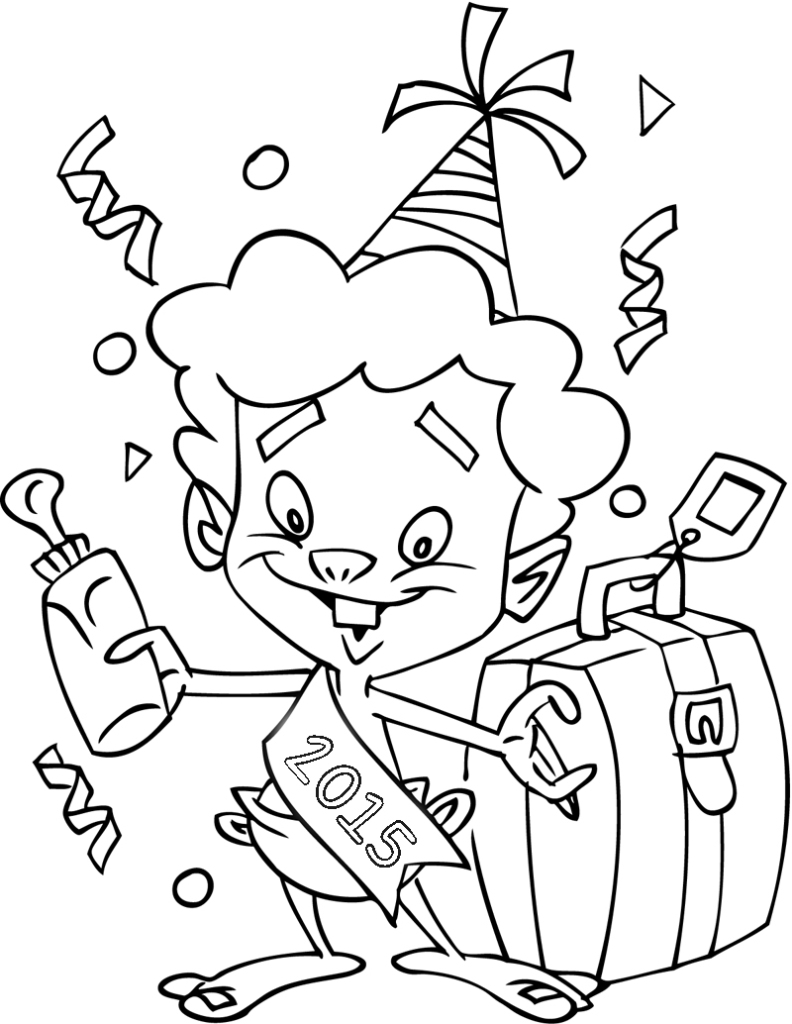 2015 coloring pages only coloring pages for New years coloring pages 2014