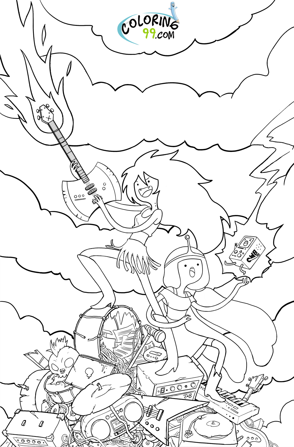 Adventure Time Coloring Pages 01