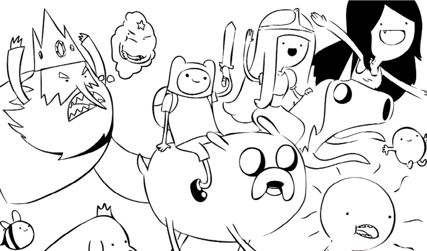 coloring pages of adventure time - photo#20