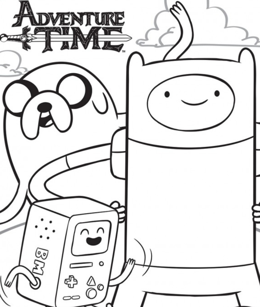 coloring pages of adventure time - photo#13