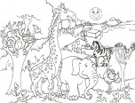 african animal coloring page