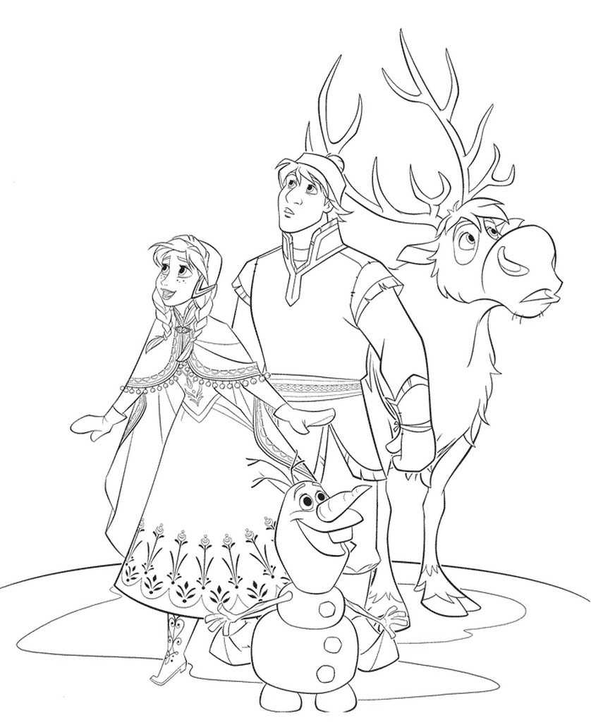 Disneys frozen character coloring pages Coloring book templates