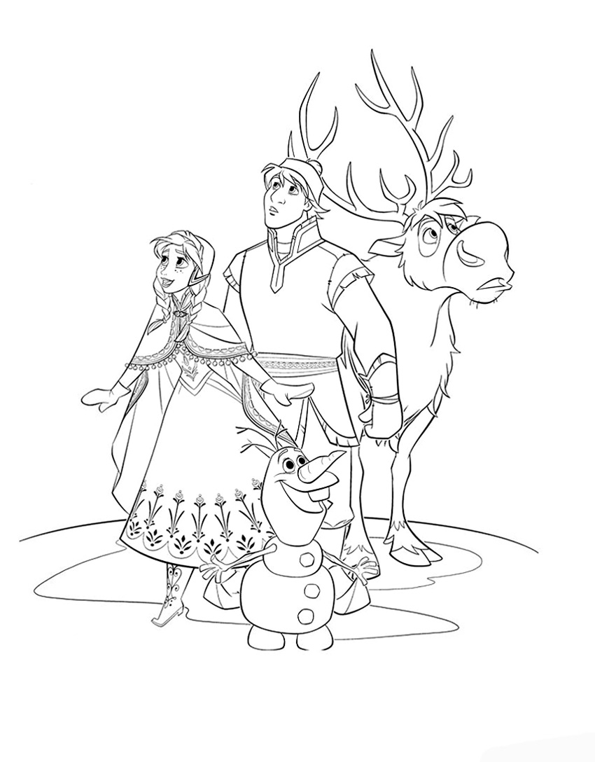 Free Coloring Pages Of Frozen All Characters