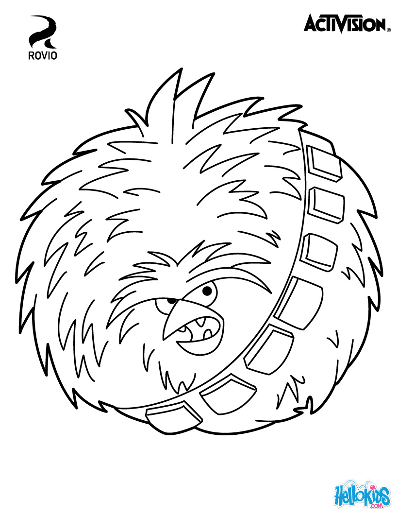 Angry Birds Star Wars Coloring Pages 01