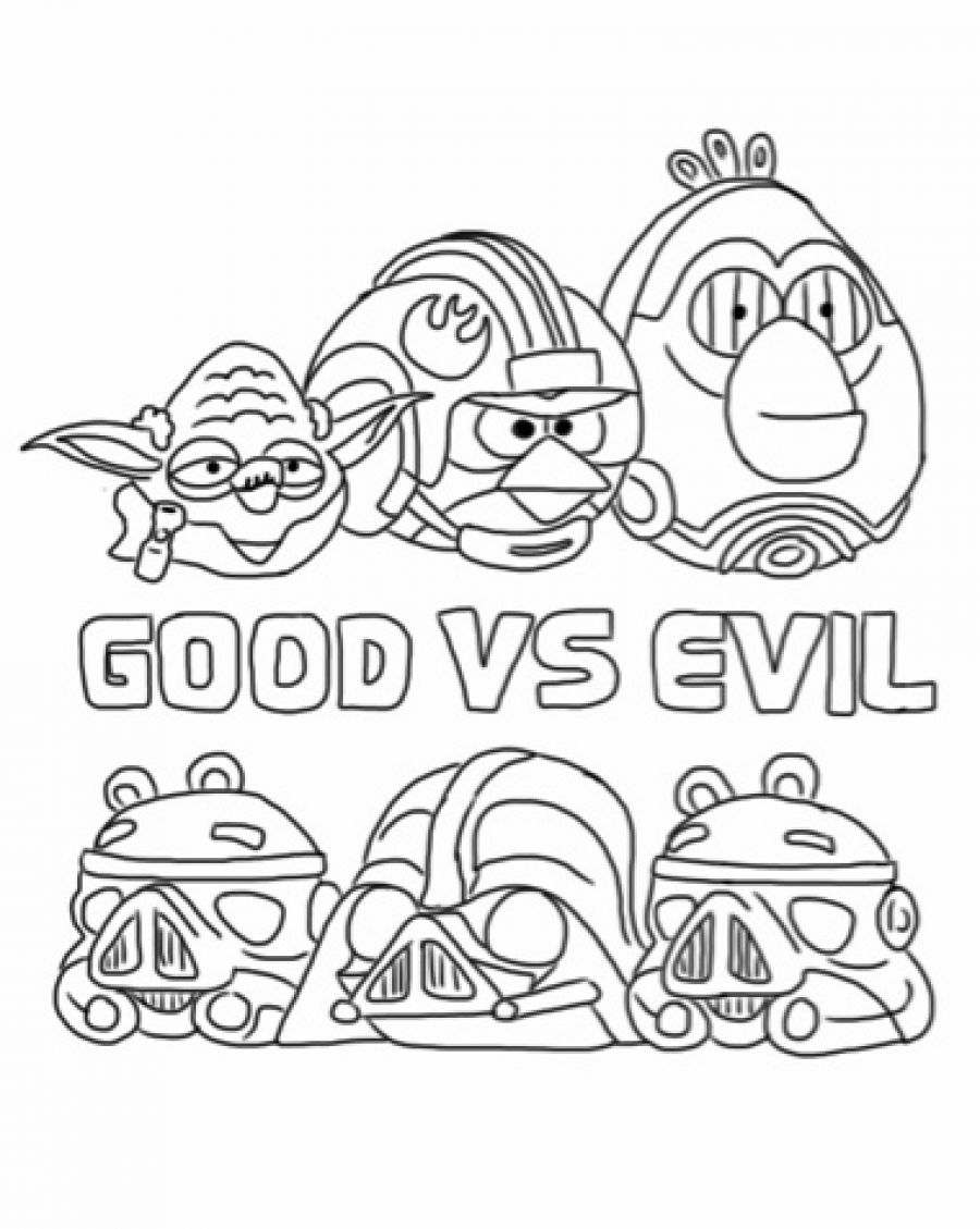 Printable Coloring Pages Angry Birds Star Wars