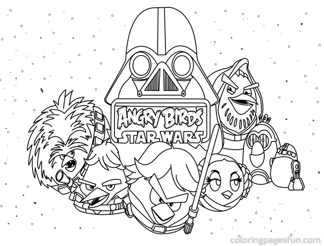 Angry Birds Star Wars Coloring
