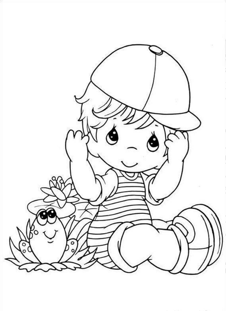 a boy coloring pages - photo #34