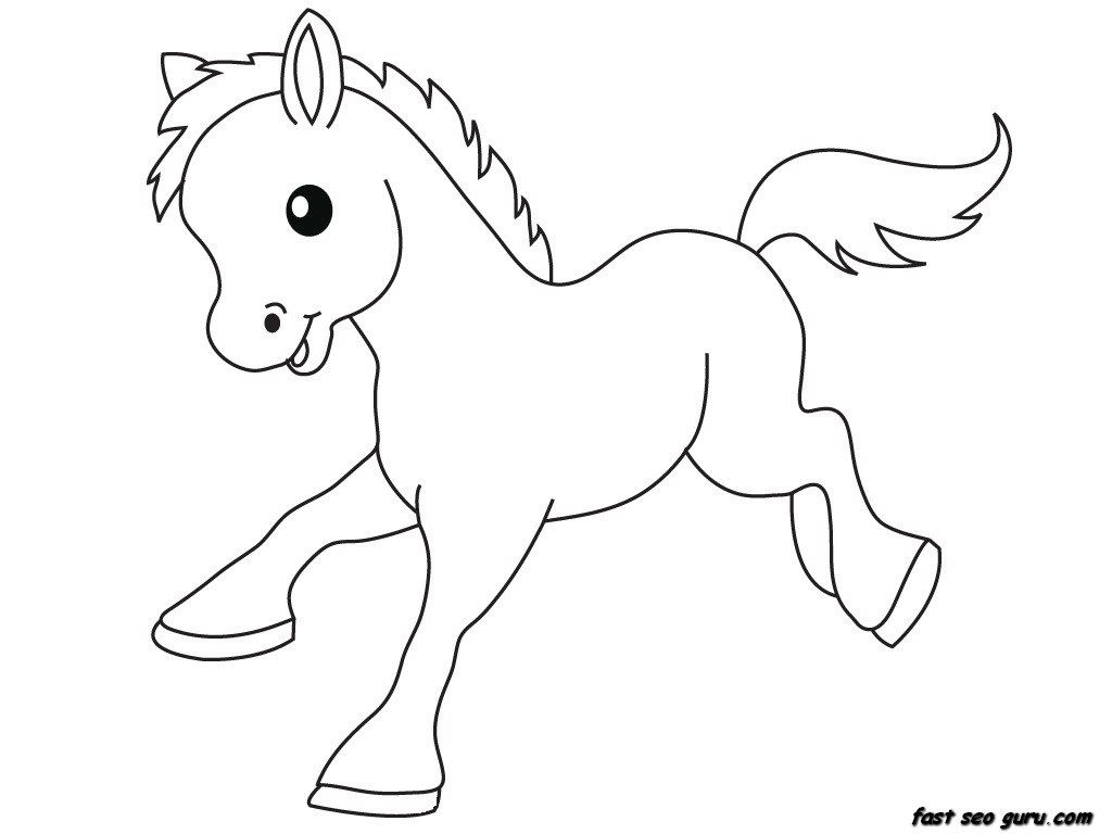 Baby Farm Animal Coloring Pages 01