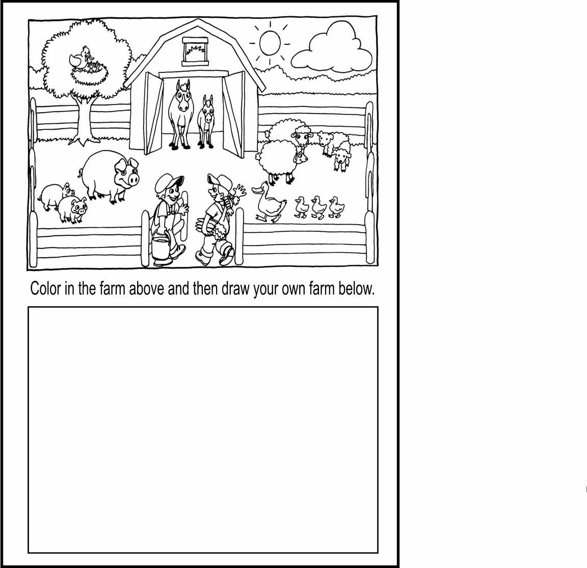 Free coloring pictures zoo animals -  Free Printable Template Baby Farm Animal Coloring Pages Only Coloring Pages