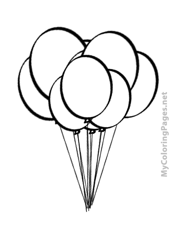 Images of Balloon Bunch Coloring Pages - #SpaceHero