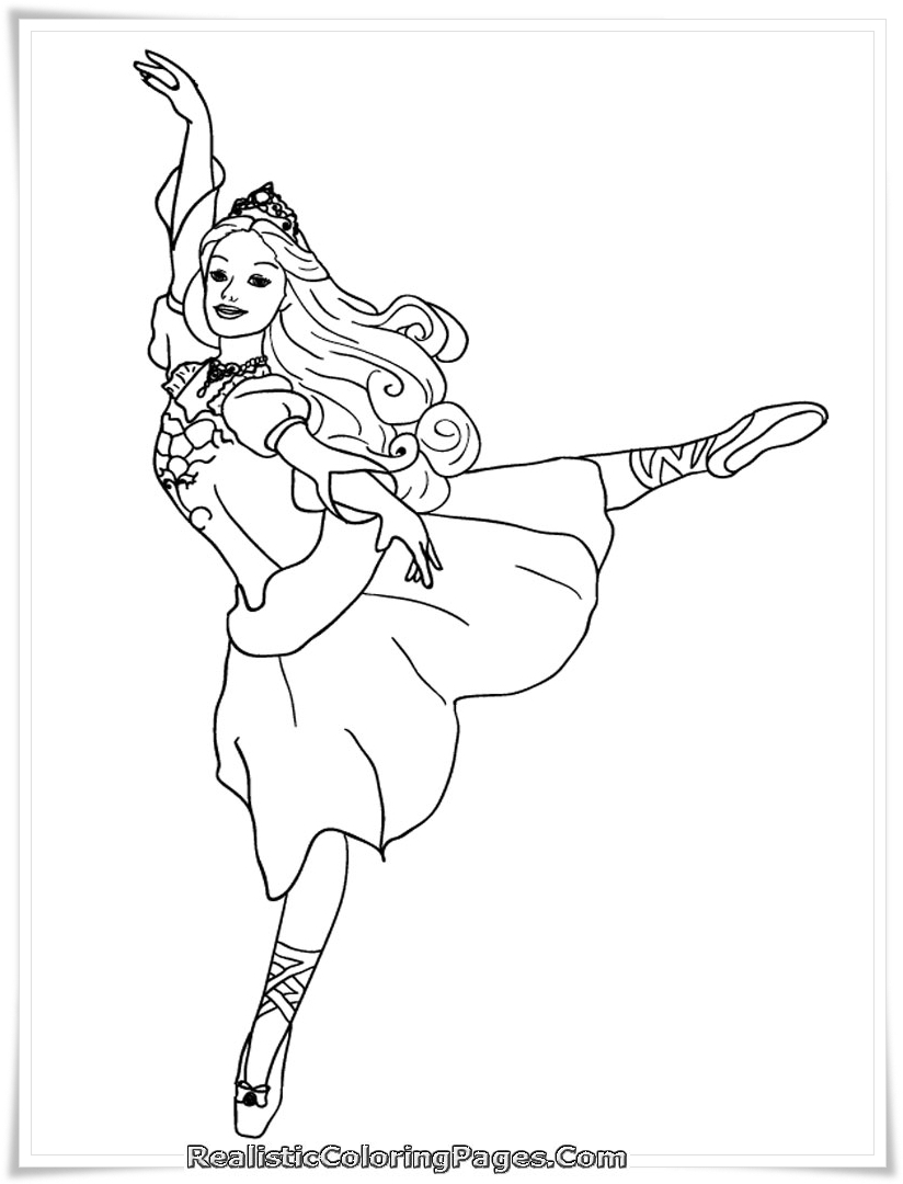 barbie and the 12 dancing princesses coloring page 01