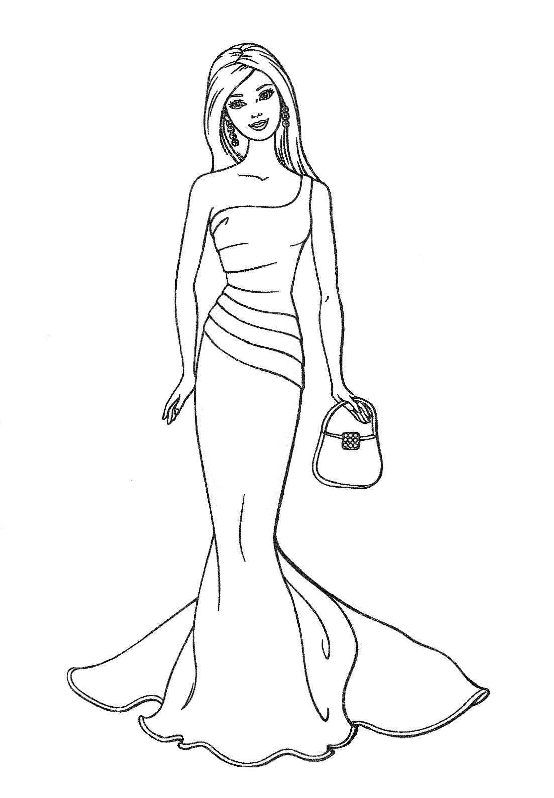 barbie coloring pages fashion 01