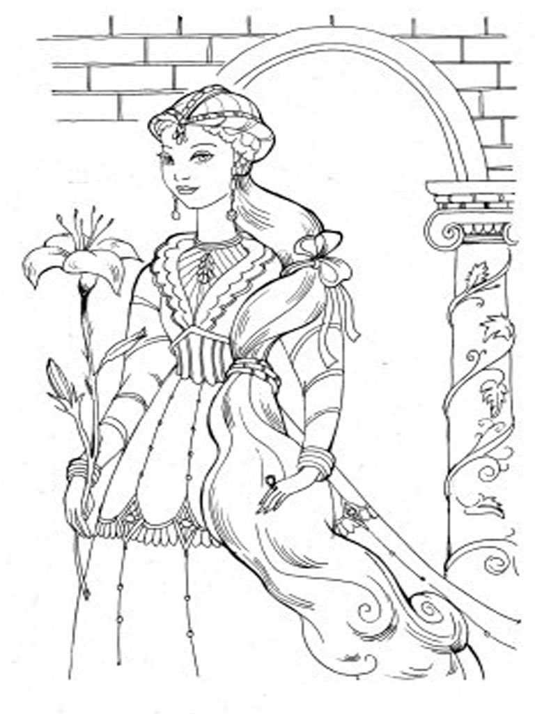 barbie diamond castle coloring pages