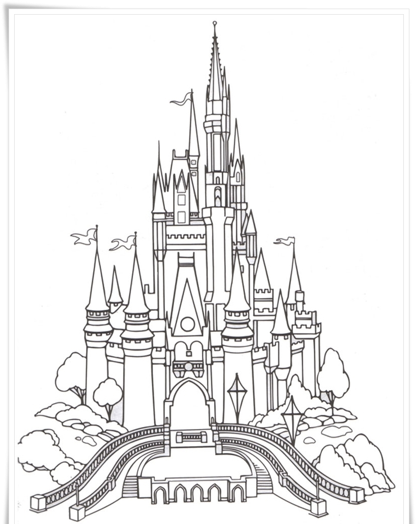 castle coloring pages for children - photo#39