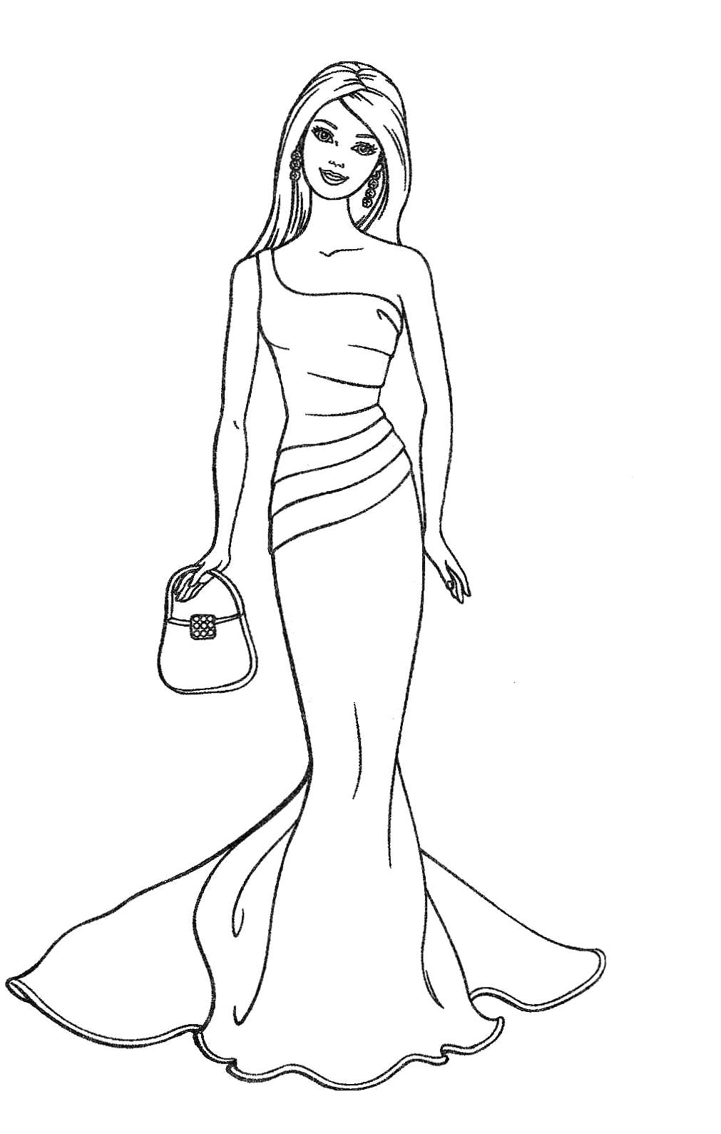 barbie fashion coloring page 01