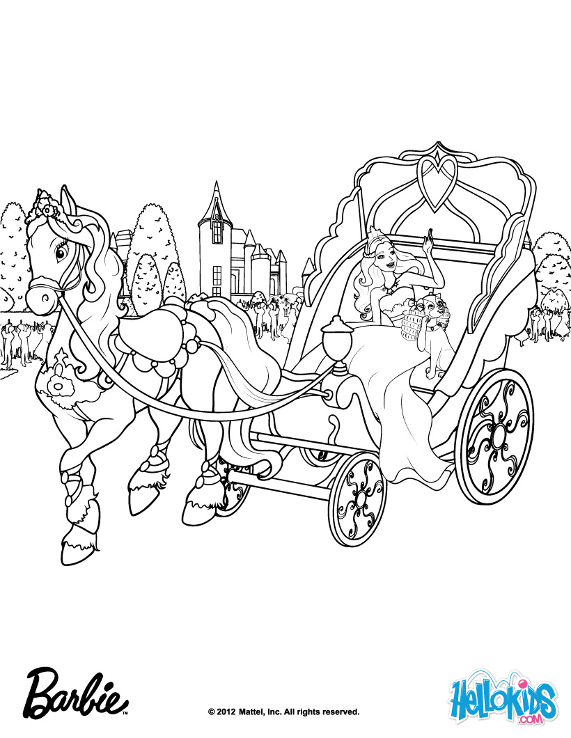Barbie Horse Coloring Pages 02