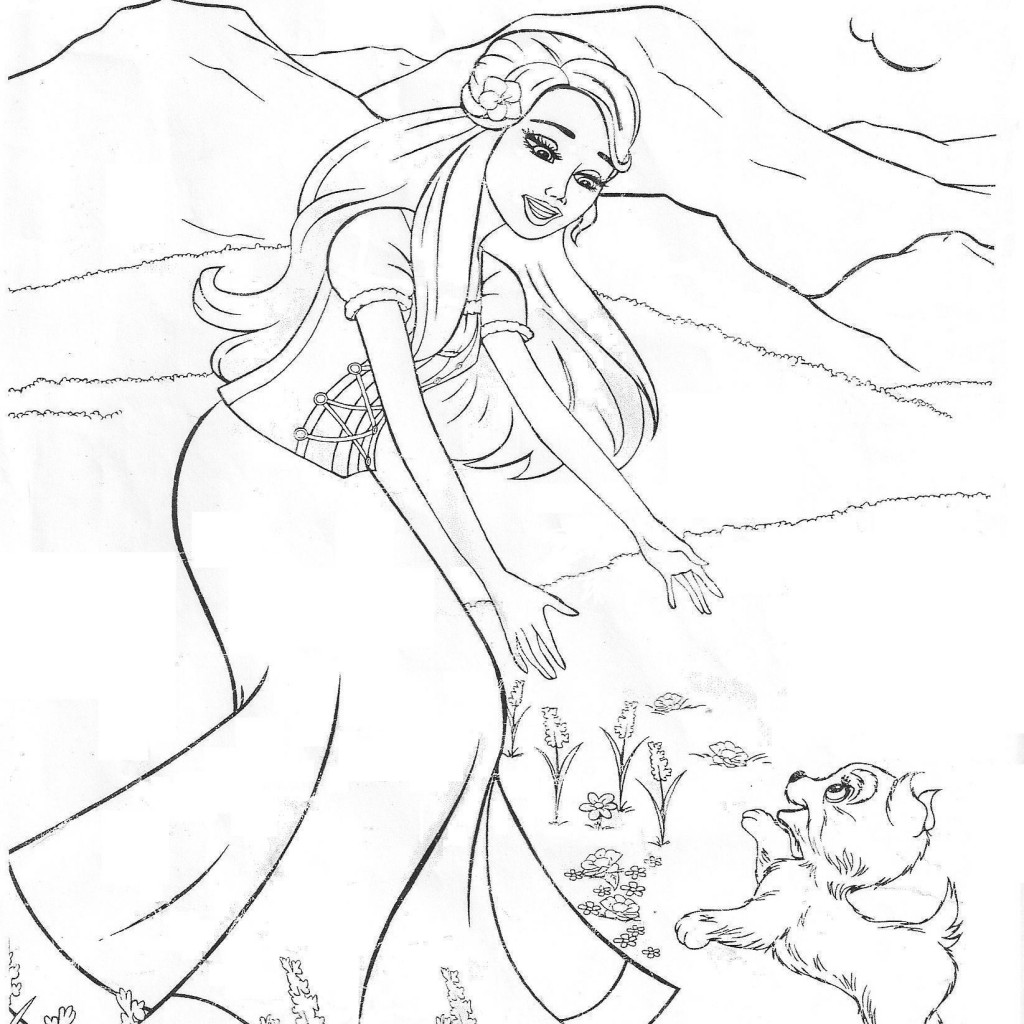 barbie princess and the popstar coloring pages 01