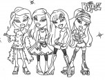 bratz fashion coloring page