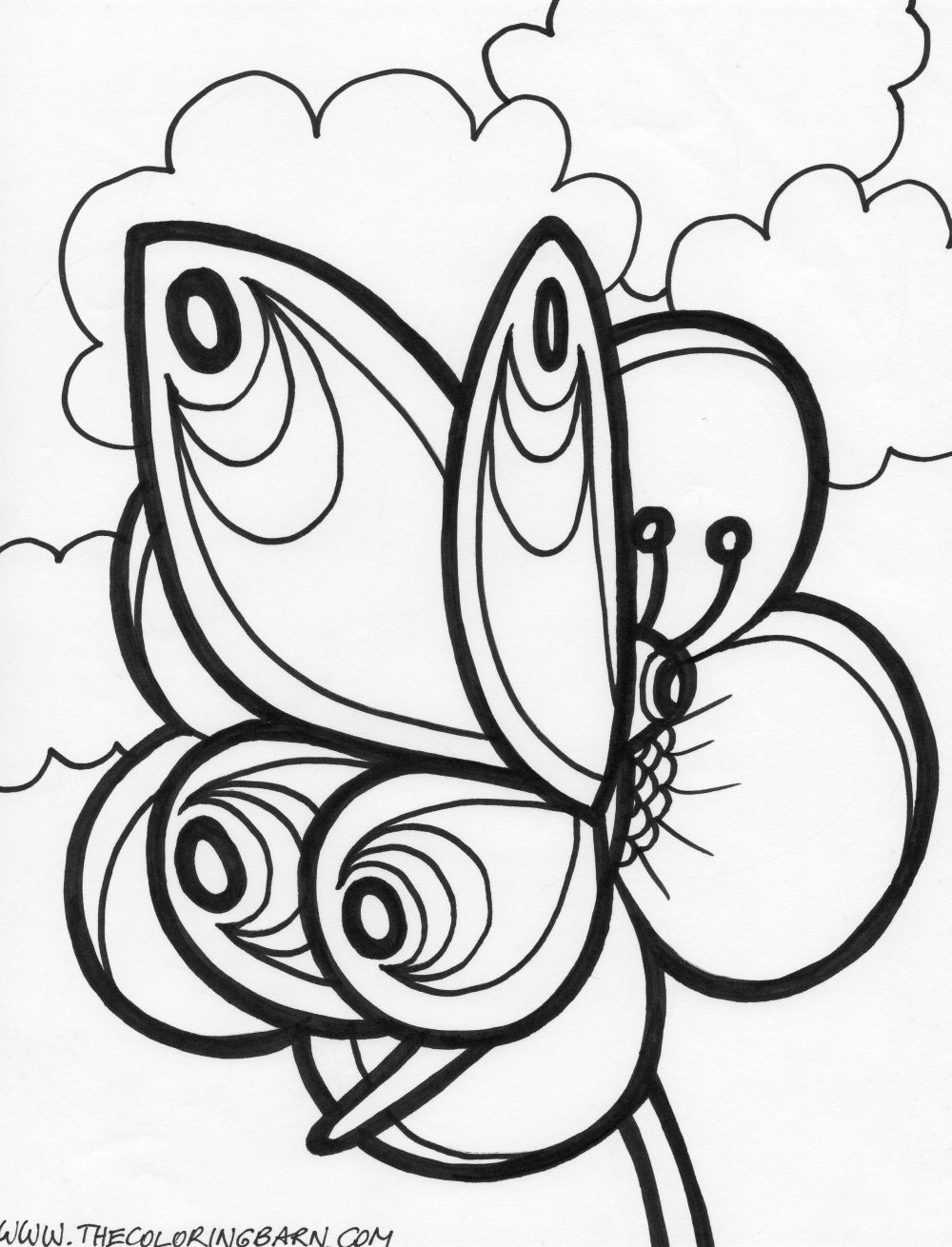 coloring pages butterflies - photo#48