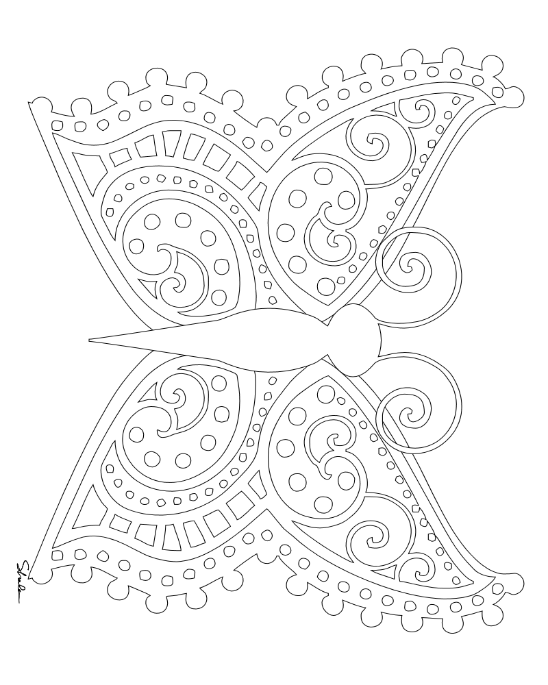 coloring pages online butterfly coloring pages for adults teenagers - Advanced Coloring Pages Butterfly