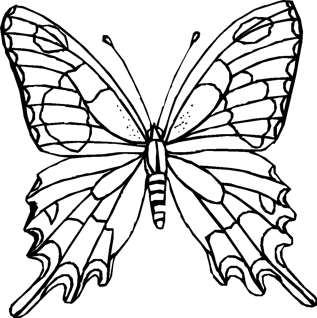 butterfly coloring pages Only Coloring Pages