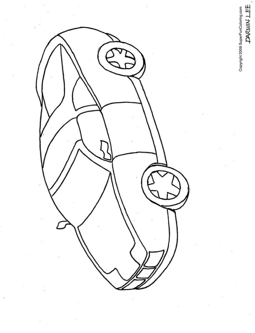 Car Cute Coloring Pages 01