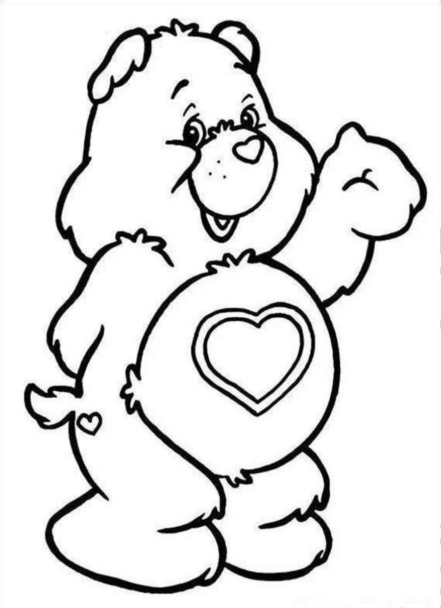 grumpy care bears coloring pages - photo#12