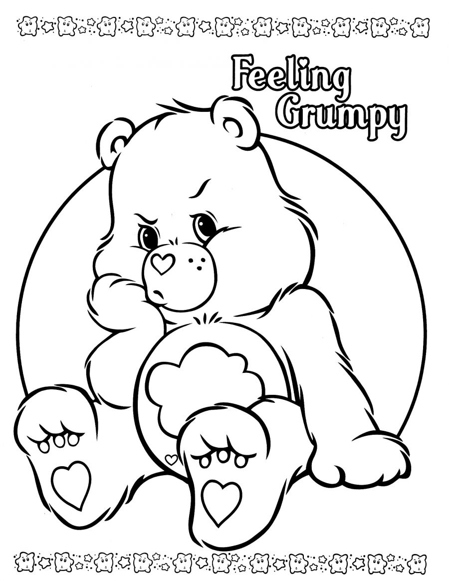 printable grumpy bear coloring pages - photo#14