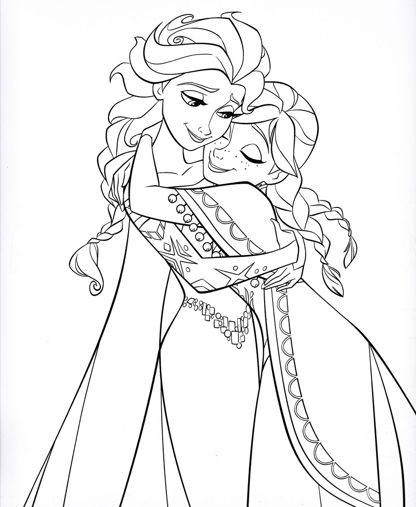 coloring pages elsa coloring pages anna and elsa only coloring pages