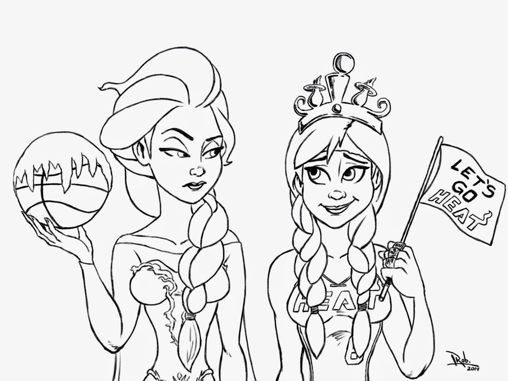 Free Coloring Pages Of Elsa Easy