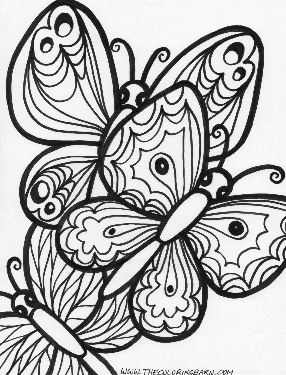 free coloring pages with butterfly - photo#34