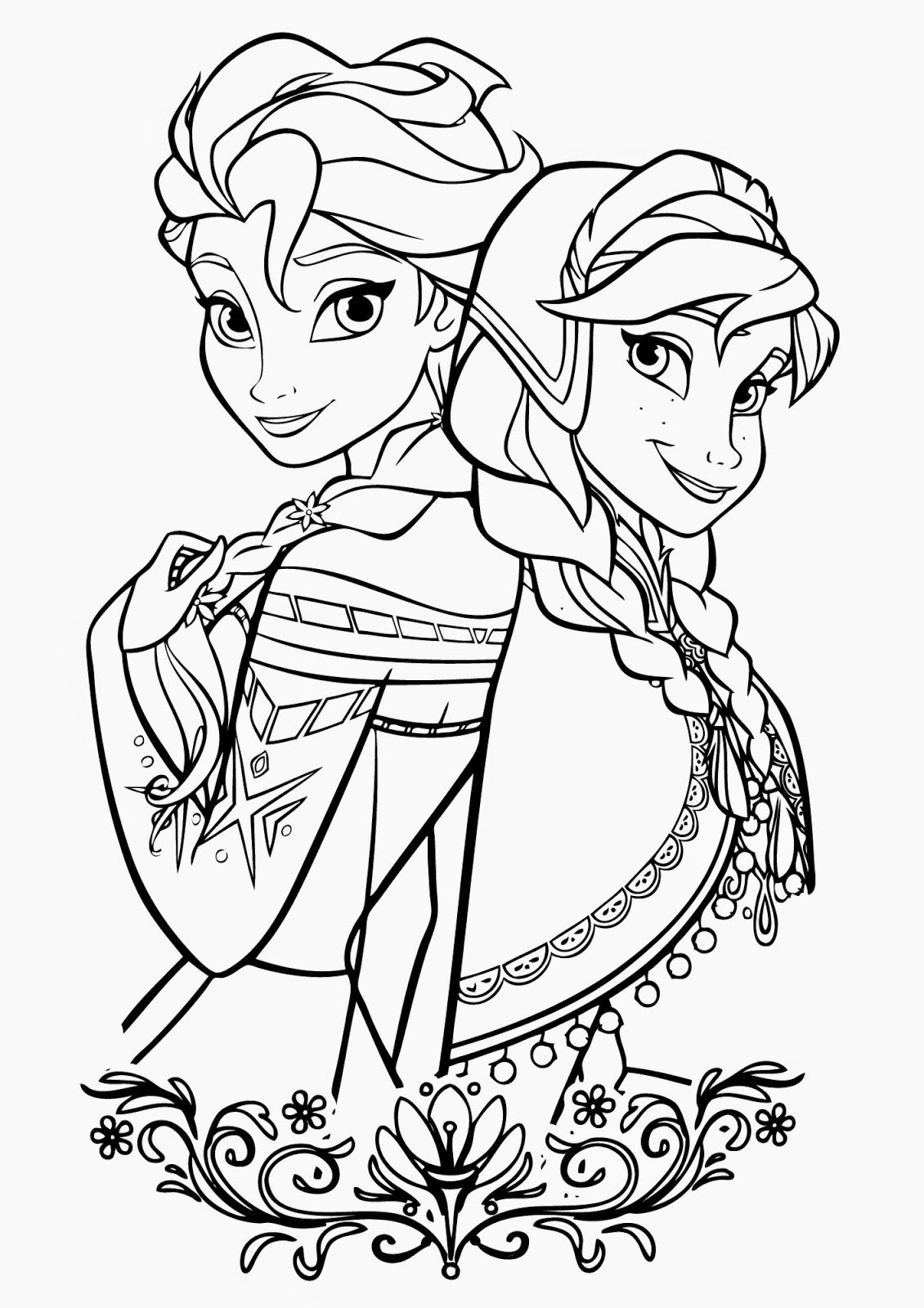 Frozen Elsa Coloring Pages