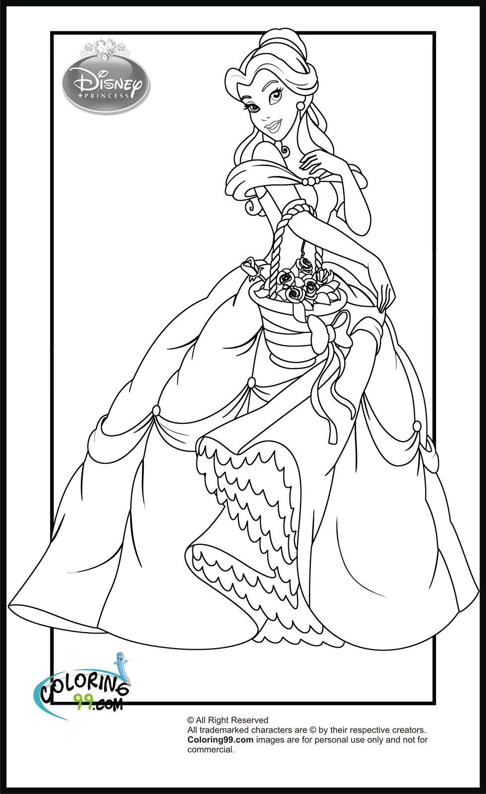 Free Princess Disney Coloring Pages