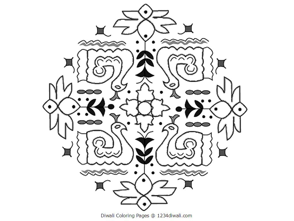 diwali coloring pages 01