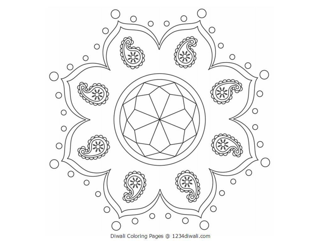 Diwali coloring pages only coloring pages for Free diwali coloring pages