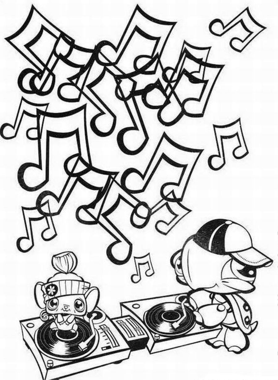 dj coloring pages