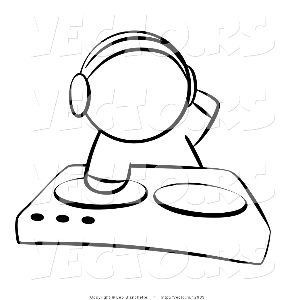 dj coloring pages | Dj Turntable Coloring Pages Sketch Coloring Page