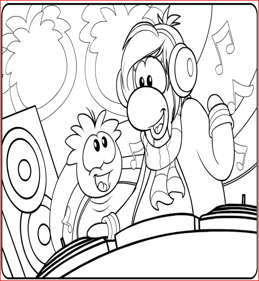 dj coloring pages Only Coloring