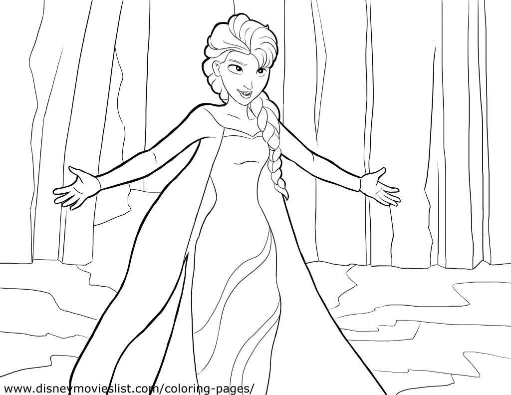 elsa freeze coloring page Only