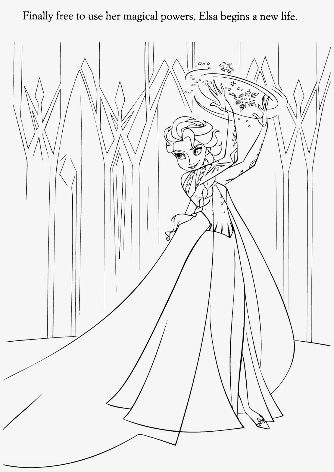 Free Coloring Pages Of Elsa Only Elsa Frozen Coloring Pages