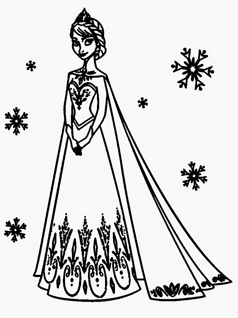 Free Coloring Pages Of Elsa Only