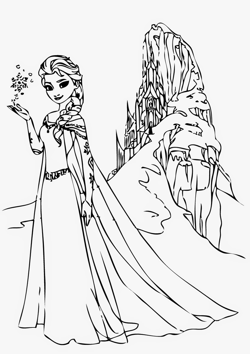 Free Coloring Pages Of Elsa Frozen Elsa Frozen Coloring Pages