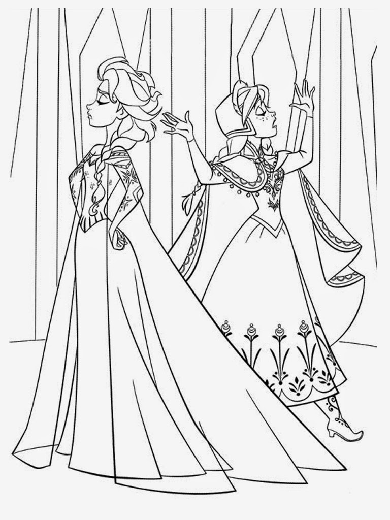 Large Coloring Elsa Coloring Pages