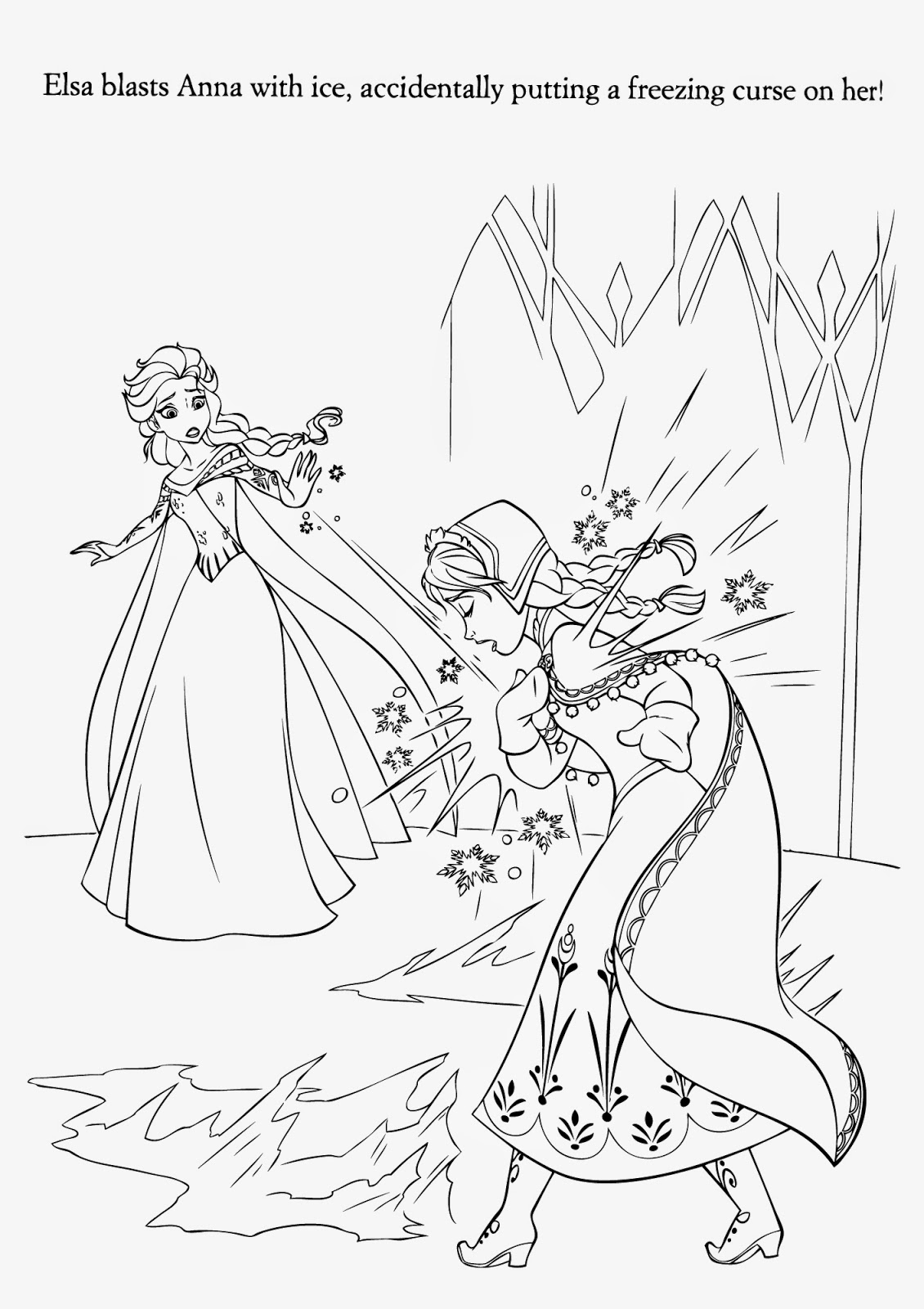 Elsa Magic Coloring Page 06