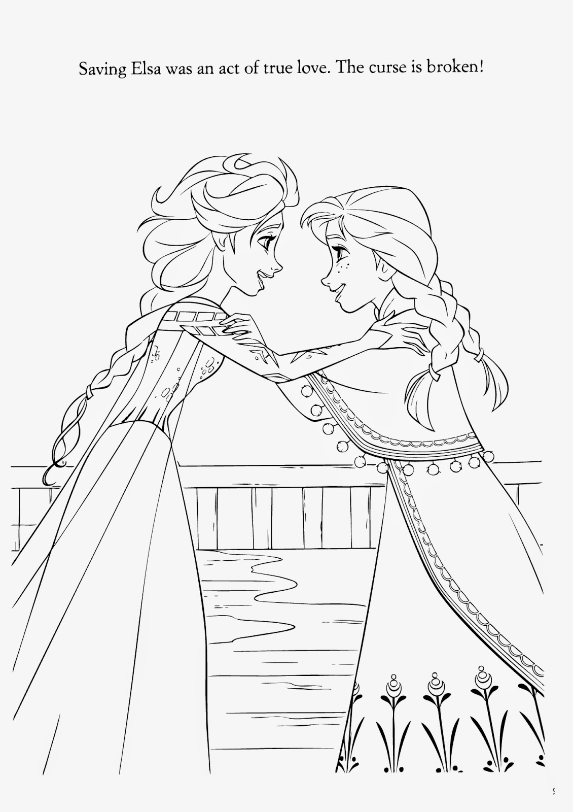 elsa magic coloring page Only