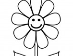 flower cute coloring page