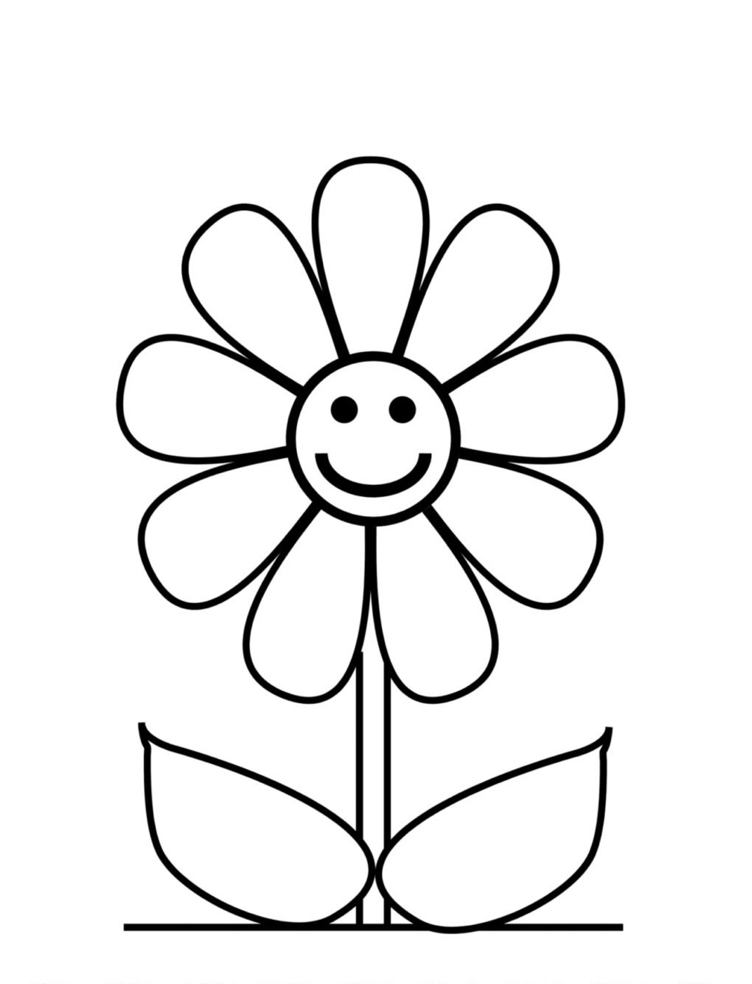 Kawaii cute flower coloring pages coloring pages for Coloring pages of a flower