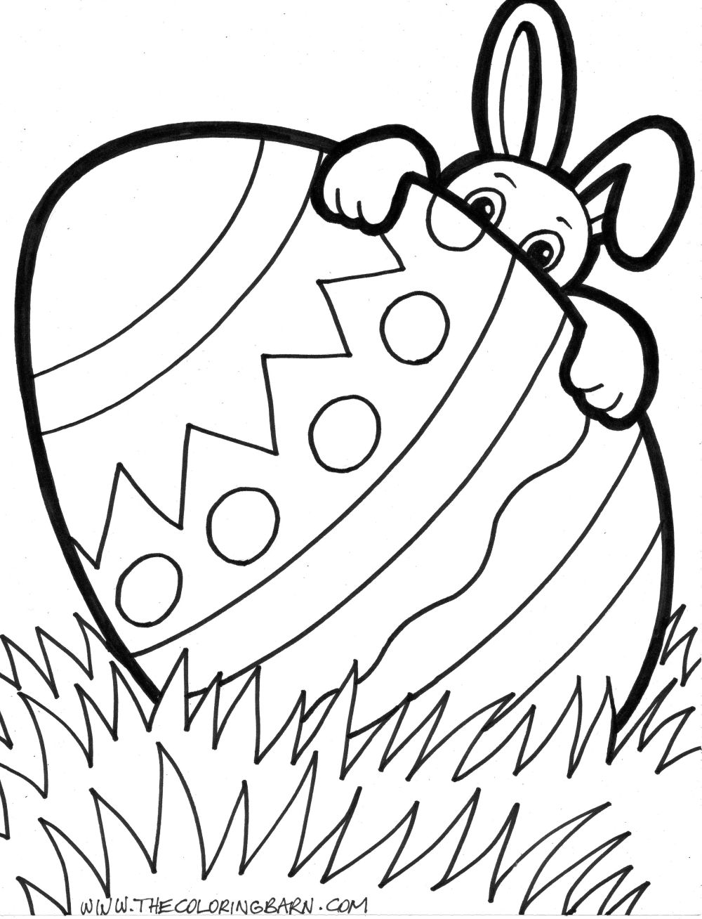 printable coloring pages easter eggs - photo#45