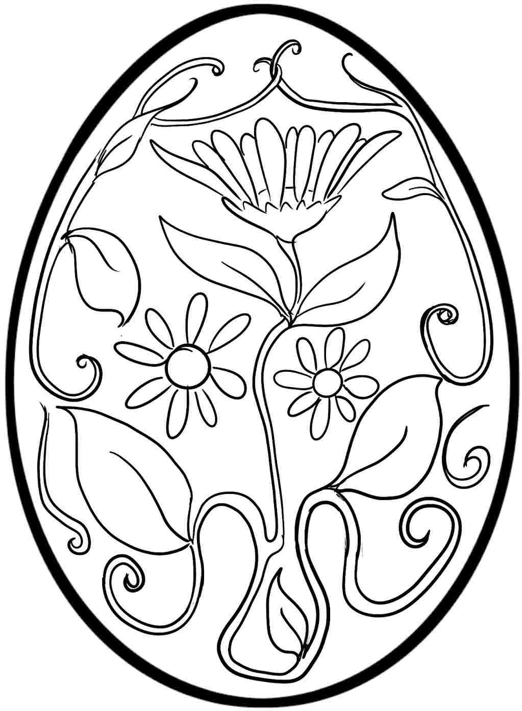 Free printable easter egg coloring pages only coloring for Free easter coloring page